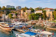 Port At Antalya Old Town In Tu...