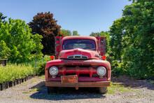 Pickup Truck At  The Lake Shore Of Niagara, Rusted And Broken