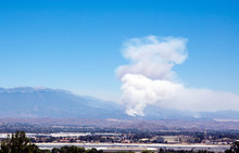 Wildfire Smoke Emerges From Ne...