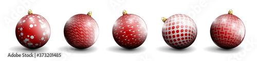 Leinwand Poster red Christmas balls