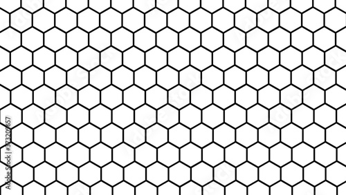 Fotografie, Obraz Honeycomb white background, Hexagon texture, 3d white paper background, abstract