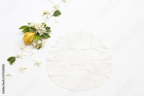 natural aroma sheet mask extract flowers essence face mask health care for skin Fototapet