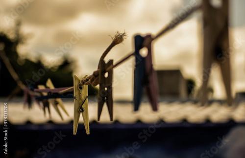 Fotografie, Obraz Selective focus shot of studs