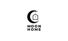 Crescent Or Moon  With Home Or...