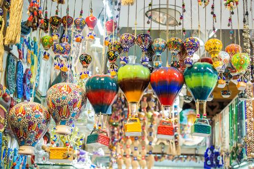 Turkish air balloon ceramic souvenirs at the street market Wallpaper Mural