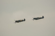A Pair Of Royal Air Force Supermarine Spitfires