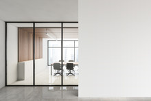 Wooden Conference Room And Moc...