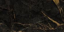 Black Marble With Golden Veins...