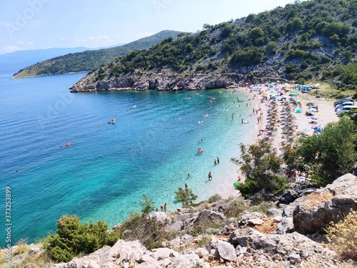 Potovosce beach near Vrbnik, Croatia Fototapete