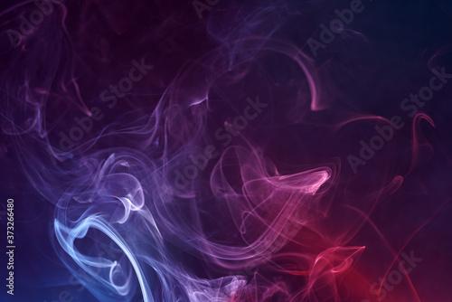 Beautiful shot of smoke on a bright colorful background Fototapeta
