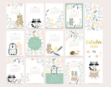 Cute Woodland Calendar 2021 Wi...