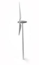 Wind Turbine Isolated On A Whi...