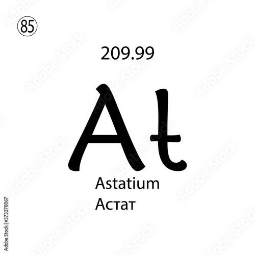 Photo Astatium chemical element