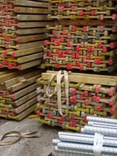 Gerüstbau-Material