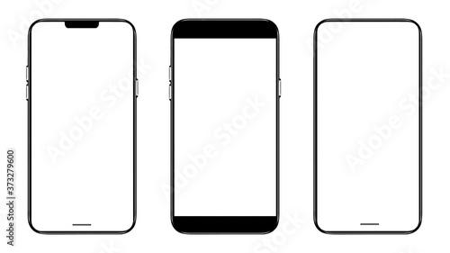 Smartphone frameless mockup Fototapete