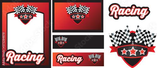 Obraz na plátne motorsport racing template set