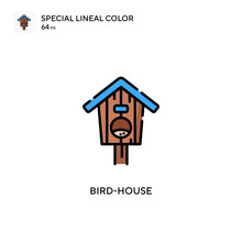 Bird-house Special Lineal Color Icon. Illustration Symbol Design Template For Web Mobile UI Element. Perfect Color Modern Pictogram On Editable Stroke.