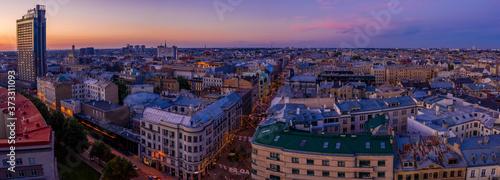 Fotografia Aerial view of the pedestrian Terbatas street in the capital of Latvia Riga at d