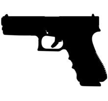 Semi Caliber 9 Mm GLOCK 22 G22 9 Mm Standard 40 S&W Handgun, Pistols For Police And Army, Special Forces. Realistic Silhouette