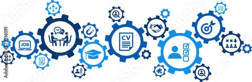 Obraz na plátně recruitment / human resources / personnel management vector illustration