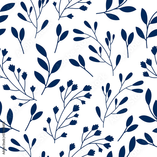 Tapety do jadalni  seamless-floral-pattern-with-leaves