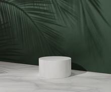 3D White Pedestal Podium With ...