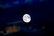 Bright Colorful Full Moon Clos...
