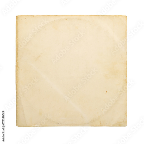 Canvastavla Aged yellow paper cover for vinyl LP record isolated