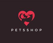 Minimal Pet Shop Logo Template...