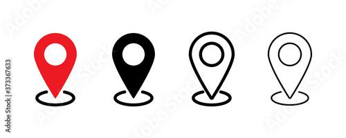 Fototapeta Pin location icon. Vector isolated element. Set of location pointer icons. Stock vector. obraz