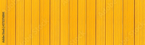 Vászonkép Panorama of Wood plank yellow timber texture background