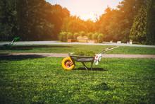 Metal Garden Wheelbarrow With ...