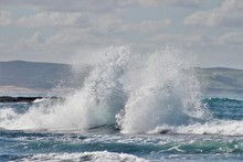 Breaking Waves And White Water Around The Coastline
