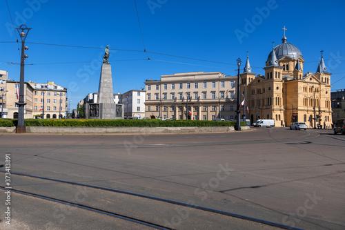 Obraz Freedom Square in City of Lodz in Poland - fototapety do salonu