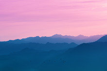 Silhouette Of Mountain Ranges ...