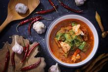 Sour Soup With Shrimp Cha Om I...