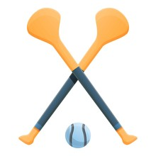 Hurling Crossed Sticks Icon. C...