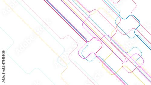 Digital geometric connection lines background Fototapet