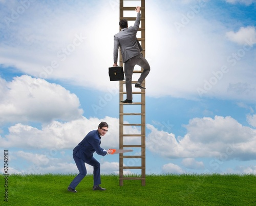 Business unethical competition concept with businessmen Wallpaper Mural
