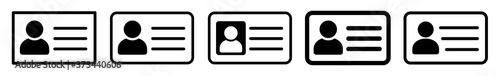 Fotografía ID Card Icon Black   Driver's License Illustration   ID Badge Symbol   Identity