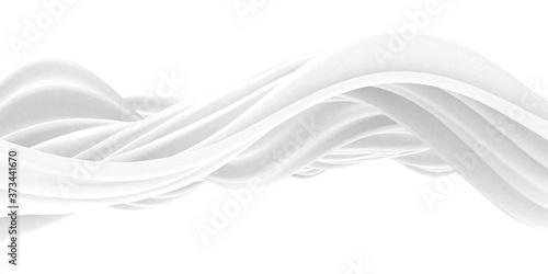 Obraz na plátně White abstract liquid wavy background