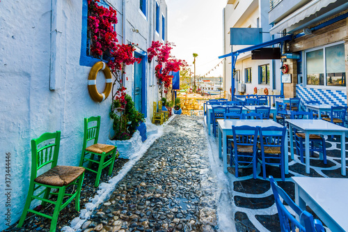 Beautiful street view in Kos Island Fototapete