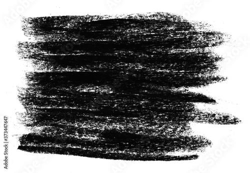 Fotografie, Obraz Schwarzes handgemaltes Gekritzel als Vorlage oder Hintergrund