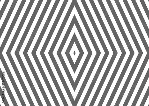 Canvastavla Geometrisches Rautenmuster grau und weiß als Hintergrund