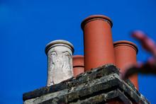 Low Angle Shot Of Chimney Pots...