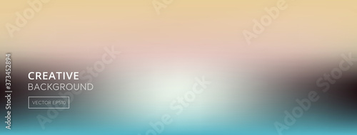 Blurred gradient abstract beidge and turquoise color banner background Fotobehang