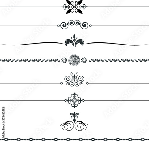 Leinwand Poster Ornamental Rule Lines.Ornamental Rule Lines Vector.