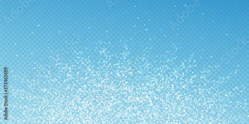 Fototapeta Magic stars Christmas background. Subtle flying sn