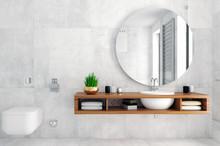 Modern Bathroom Interior In Lo...