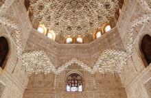 Palacios Nazaries Nasriden Palast In Der Alhambra Von Granada.